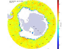 Sea surface salinity in the southern hemisphere