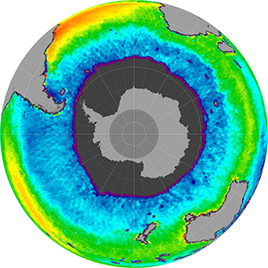 Sea surface salinity in the Southern Hemisphere, August 2014
