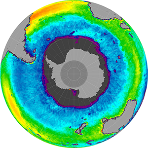Sea surface salinity in the Southern Hemisphere, December 2013