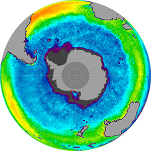 Sea surface salinity in the Southern Hemisphere, February 2012