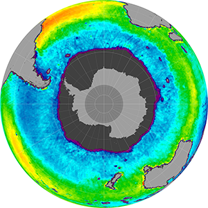 Sea surface salinity in the Southern Hemisphere, November 2013