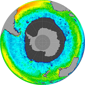 Sea surface salinity in the Southern Hemisphere, October 2012