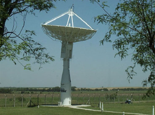 Command and telemetry antenna, Córdoba, Argentina