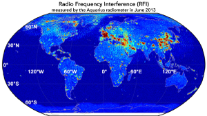 Radiofrequency interference map