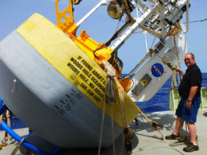 Eric Lindstrom and the WHOI surface buoy