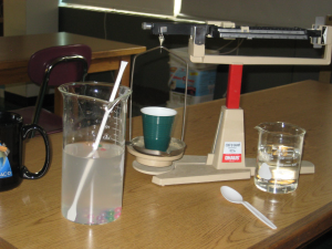 Lab setup for quantifying density and specific gravity