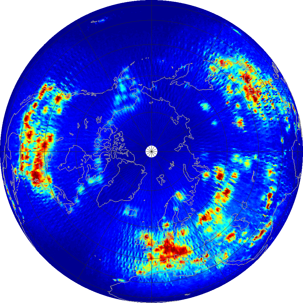 NASA Aquarius Mission - RFI Maps at Scatterometer Frequency