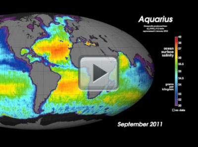 Global View of Sea Surface Salinity From September to December 2011