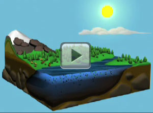 Block diagram of the water cycle