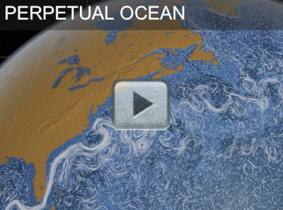 Surface currents on the Atlantic Ocean